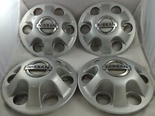 Nissan Wheels Silver Custom Wheel Center Caps Set of 4 # 40315-7SOOO