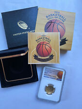 2020 W $5 Basketball Hall of Fame Gold Coin NGC MS69 Tip Off Releases with BOX