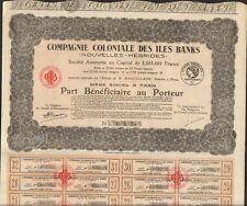 Compagnie Coloniale des ILES BANKS (NOUVELLES HÉBRIDES) (R)