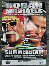 """WWE PPV Poster 27""""x39"""" Hogan vs Michaels Sunmerslam 2005 OFFICIAL POSTER!"""