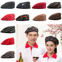 1pc Men Women Kitchen Chef Cap Catering Service Waiter Cooking Beret Hat Cap