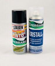 Vernice spray ritocco colore auto + Trasparente ABARTH ALFA FIAT LANCIA 800 ml