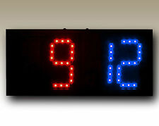 """Remote Controlled Scoreboard Red/Blue (5"""" digits) w/Rechargeable Battery"""