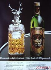 1976 GLENFIDDICH Pure Malt Scotch Whisky Advert #2 - Original Print AD