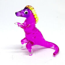 Purple Dinosaur Cartoon Collectible Miniature Hand Blown Glass Figurine