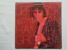 Jeff Beck With Jan Hammer Group Live 1977 Epic PE-34433 1-C/1-C Press Insert NM