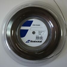 New BabolaT Rpm Power 130/16 200M Reel Tennis String, Brown