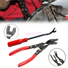 Pair Car Door Panel Trim Clip Removal Plier Upholstery Remover Pry Bar Tool Kit