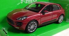 Nex Models 1/24 Scale 24047W Porsche Macan Turbo Metallic Red Diecast model car