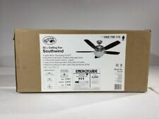 """Hampton Bay Southwind 52"""" LED Brushed Nickel Ceiling Fan with Light and Remote"""