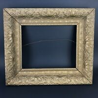 Antique 19c Vtg Gilt Gold Ornate Gesso Frame Wood Rococo Victorian Fine Art Old
