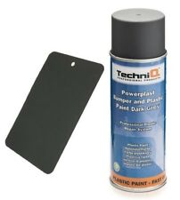 TechniQ Plastic Bumper Spray Paint Dark Grey, Plastic, Trim DARK GREY