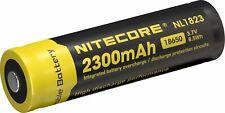 5 x NiteCore NL1823 2300mAh 18650 3,6V 3,7V geschützt erhöhter Pol Li Ion Akku