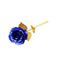 24K Gold Foil Plated Rose Romantic Valentine's Day Gift Golden Rose Flower