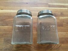 Tea And Sugar Glass Jars / Canisters