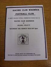 08/03/2014 RACING CLUB Warwick V pelsall Villa. grazie per la visualizzazione il nostro articolo, mi