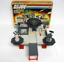 GI JOE TRANSPORTABLE TACTICAL BATTLE PLATFORM Vintage Playset COMPLETE BOX 1985