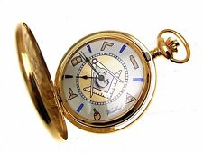Masonic Pocket Watches For Men Fob Watch Gold Plate Metal