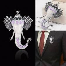 Fashion Vintage Elephant Animal Pin Brooch Enamel Wedding Costume Jewelry Gift