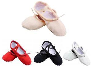 Ballet Canvas Dance Gymnastic Shoes Split Sole Children's & Adults Sizes