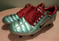 2005 NIKE TOTAL 90 III SG SILVER RED T90 SOCCER CLEATS FOOTBALL BOOTS US 7 UK 6