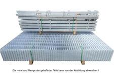 Doppelstab Mattenzaun Komplett-Set / Verzinkt / 203cm hoch / 15m lang