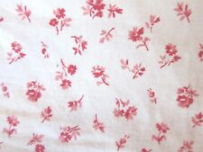 Ralph Lauren Twin Fitted Sheet Colchester Red Calico Floral Shabby Cottage Vtg