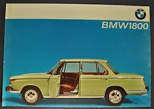 1964-1965 BMW 1800 Sales Brochure Sheet Excellent Original