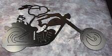 Biker Duo Snoopy and Woodstock Metal Wall Art