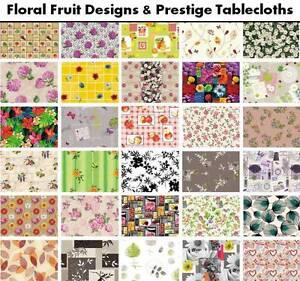 Floral Fruit Tablecloth PVC Vinyl Wipe Clean Oilcloth Latest Designs 100x140cm