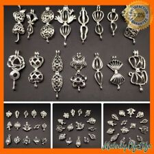 15pcs Silver Color Pearl Cage Pendant - Mixture Different Style Pendant Fun Gift