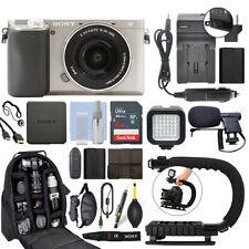 Sony a6300 Cámara sin espejo con 16-50 mm Alpha Lente Plata + Kit de Video 64 Gb Pro