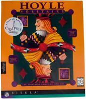 HOYLE SOLITAIRE 90s Big Box PC VIDEO GAME Sealed NEW Windows 95 / 3.1 CD-ROM NIB