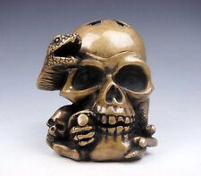 Crâne tête de squelette Serpent Boucle de ceinture Punk Rock Gothique feeanddave