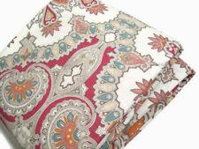 Pottery Barn Multi Colors Warm Valencia Paisley Cotton King Duvet Cover 2 Shams
