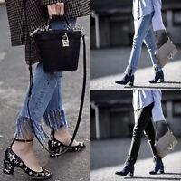 Women's Pencil Stretch Casual Denim Skinny Jeans Pants High Waist Slim Trousers