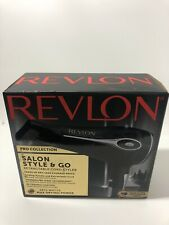 Revlon Pro Collection Hair Dryer Salon Style & Go Retractable Cord 1875 Watts