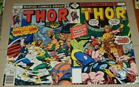 THOR #275 & 276 (1978) 1ST RED NORVELL AS THOR! IN A HIGHER GRADE & VS LOKI WOW!