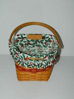 Longaberger Medium Gathering Basket Liner Only Holiday Plaid Tidings