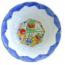 Serving Bowl Extra Large Vintage Ceramic Italian Rare Retro Garden Excellent