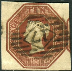 Sg 57 10d Brown.  A  fine used 4 margin example