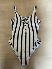 NEW Next Blue & White Striped Swimsuit Size 14