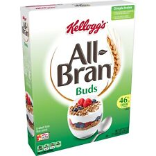 10 Boxes - Kellogg's All Bran Buds, Breakfast Snack, Natural Cereal, Wheat Bran