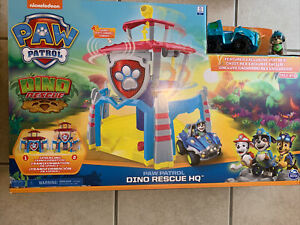 Paw Patrol DINO RESCUE HEADQUARTERS HQ Playset with REX BRAND NEW FREE SHIPPING