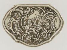 Baroque style 800 Silver Pill Box - Dutch or German - Silber snuff patch SL
