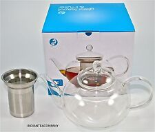Large Glass Tea Pot  Steel Infuser Designed by Adagio
