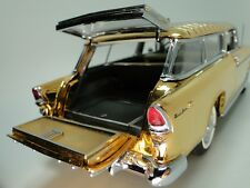 1955 Chevy Built 1 Nomad BelAir Car 12 Carousel GOLD 24k Model 24 Metal 18