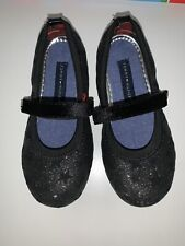 Tommy Hilfiger Toddler Girl Shoes Black Stars Sparkle Halloween Christmas Sz 10
