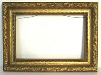 ANTIQUE   GREAT QUALITY GILT FRAME FOR PAINTING  13 X 8 1/2  INCH