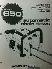 Homelite 650 Super Automatic Chain Saw Parts Manual 8pg Chainsaw Pro